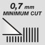 Минимальная длина стрижки 0,7 мм