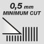 Минимальная длина стрижки 0,5 мм