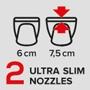 2 ультраузких насадки 6/7,5 см