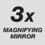 Зеркало с трехкратным увеличением