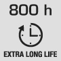Длительный срок службы 800 часов