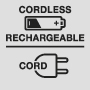Cordless rechargeable / Cord