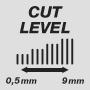 Длина стрижки от 0,5 до 9 мм