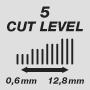 Длина стрижки от 0,6 до 12,8 мм