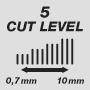 Длина стрижки от 0,7 до 10 мм