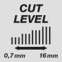 Длина стрижки от 0,7 до 16 мм