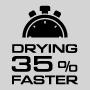 Сушка на 35% быстрее