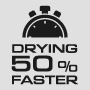 Сушка на 50% быстрее