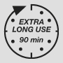 Extra long use 90 minutes