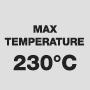 Максимальная температура 230°C