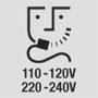 Разетка для электробритвы 110-120 В / 220-240 В