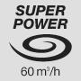 Супермощный воздушный поток 60 м3 / ч