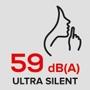 Ультратихий 59 дБ(А)