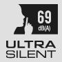 Ультратихий 69 дБ(А)