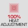 100 % Регулирование тепла