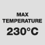 Maximum temperature 230°C