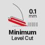 Минимальная длина стрижки 0,1 мм