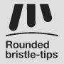 Rounded bristle-tips