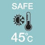 Safe tepid temperature 45°C