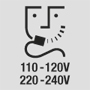 Prise rasoir 110-120V/220-240V