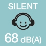 Low noise level 68 dB(A)