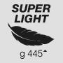 Super light weight 445 g