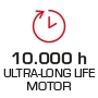 Motor life 10,000 hours